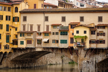 Fototapeta na wymiar Detail of Ponte Vecchio Bridge Florence
