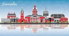 Annapolis Maryland City Skylin...