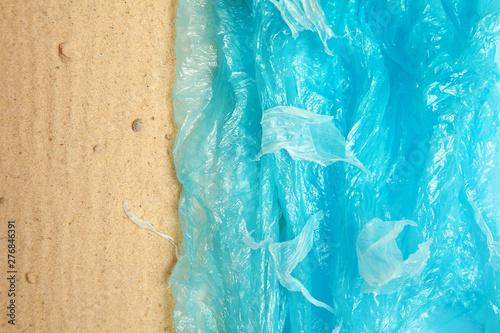 Creative artwork concept of plastic pollution Tableau sur Toile