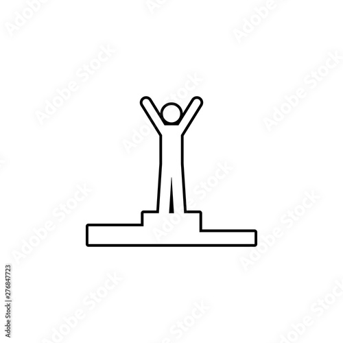 The man comes first icon  Simple thin line, outline vector