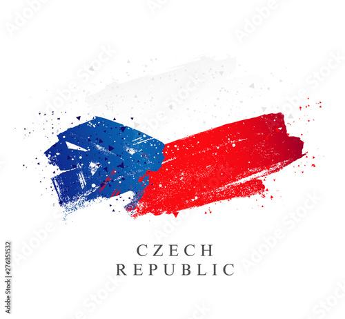 Fototapeta Flag of the Czech Republic. Vector illustration
