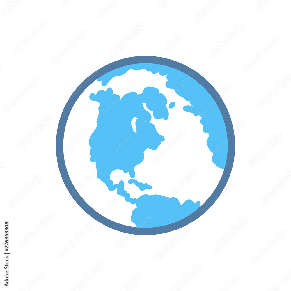 Fototapety, obrazy: Earth planet icon
