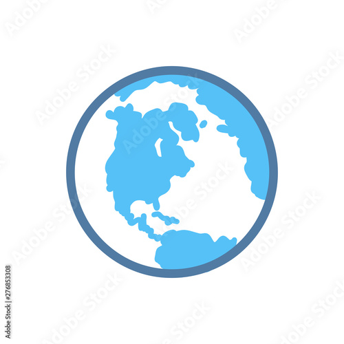 Fotomural  Earth planet icon