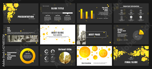 Presentation template design Wallpaper Mural