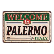Welcome To Palermo Italy Vinta...
