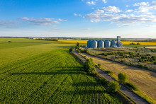 Aerial View  Grain Elevator