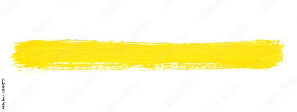 Fototapety, obrazy: Breiter gelber Pinselstreifen als Banner