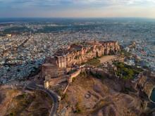 Aerial Of Mehrangarh Fort In Jodhpur, Rajasthan, India