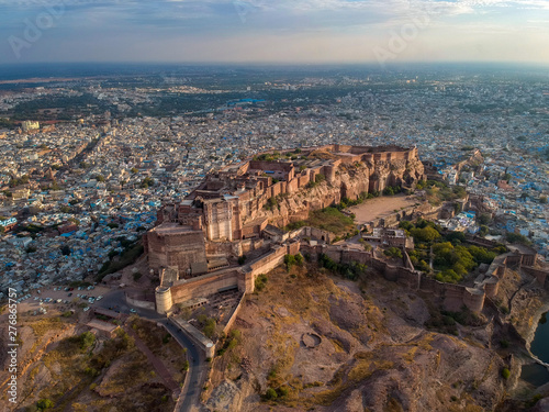 Valokuvatapetti Aerial of Mehrangarh Fort in Jodhpur, Rajasthan, India