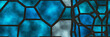 canvas print picture - Stained glass- abstract mosaic architecture