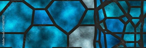 Valokuva  Stained glass- abstract mosaic architecture