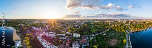 Fotografía  Panoramic aerial shot of Valea Morilor Park at sunset
