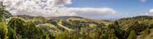 Panoramic Aerial View Of Apollo Bay And Barham Paradise Scenic Reserve Along The Great Ocean Road, Victoria, Australia