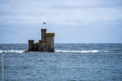 Valokuvatapetti St Mary's Isle also known as Conister Rock or the Tower of Refuge is a partially