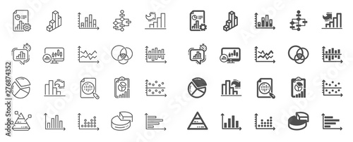 Pinturas sobre lienzo  Charts and Diagrams line icons