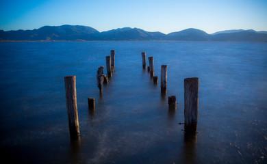 Fototapeta Molo Lago Massaciuccoli e Torre del Lago Puccini