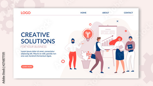 Landing Page Offers Creative Solution for Business Canvas Print