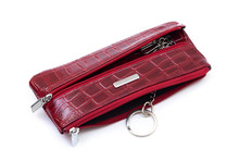 Red Leather Key Holder