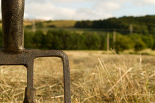 Fork Left In Farmers Haystack