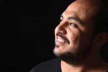 Portrait Of A Latin American Man On Black