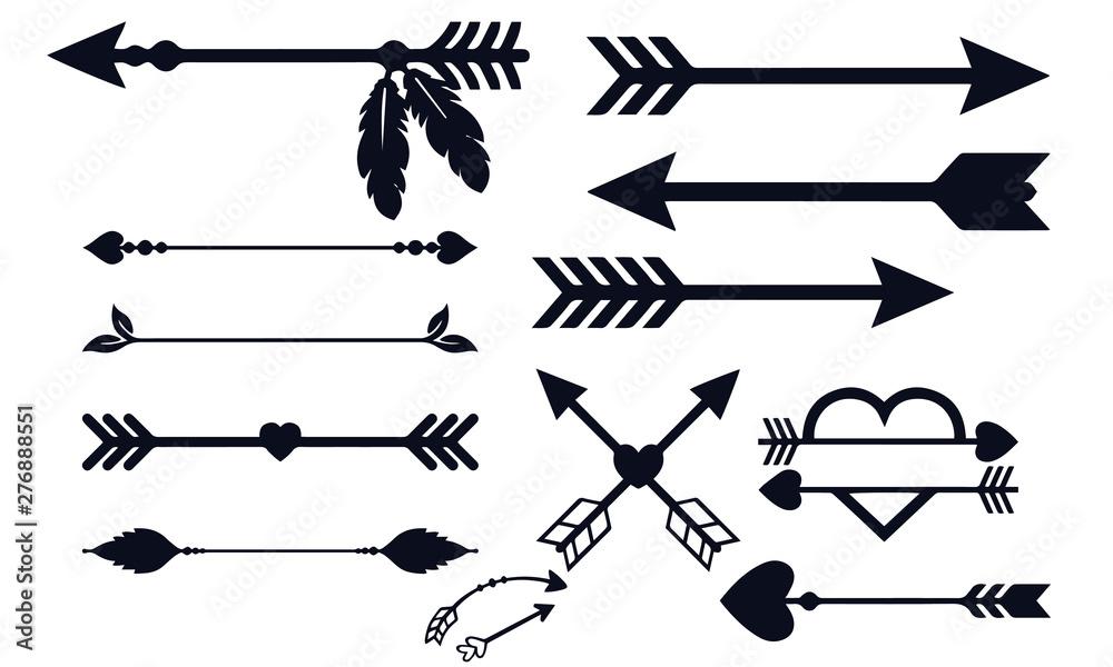 Fototapeta arrow decoration collection black and white