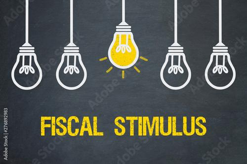 Fiscal stimulus Canvas Print