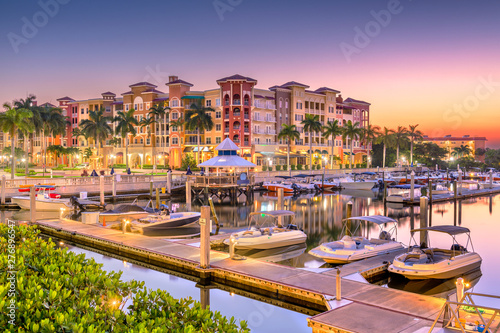 Canvas Prints Napels Naples, Florida, USA Town Skyline
