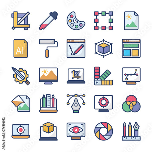 Photo Graphic Designing Icons Pack