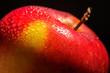 Apfel rot Nahaufnahme