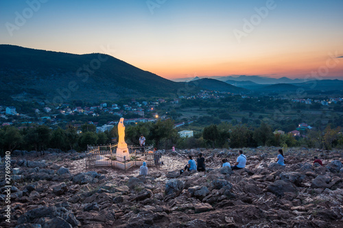 Statue of Virgin Mary in Medjugorje, Bosnia and Herzegovina Canvas Print