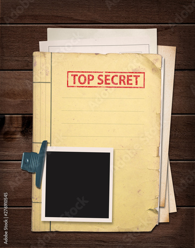 top secret file. Wallpaper Mural