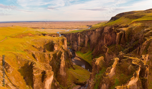 Photo  Huge canyon in Iceland Bieber canyon