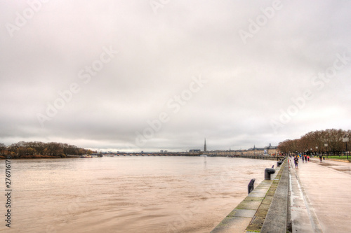 Poster Antwerp River in Bordeaux, France