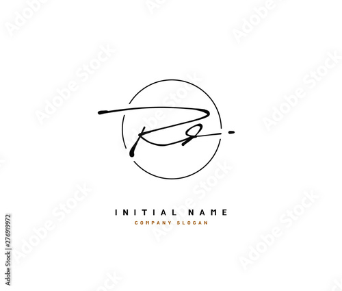 Photo  R D RD Beauty vector initial logo, handwriting logo of initial signature, wedding, fashion, jewerly, boutique, floral and botanical with creative template for any company or business