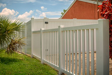 Picket And Solid Privacy Vinyl Fence