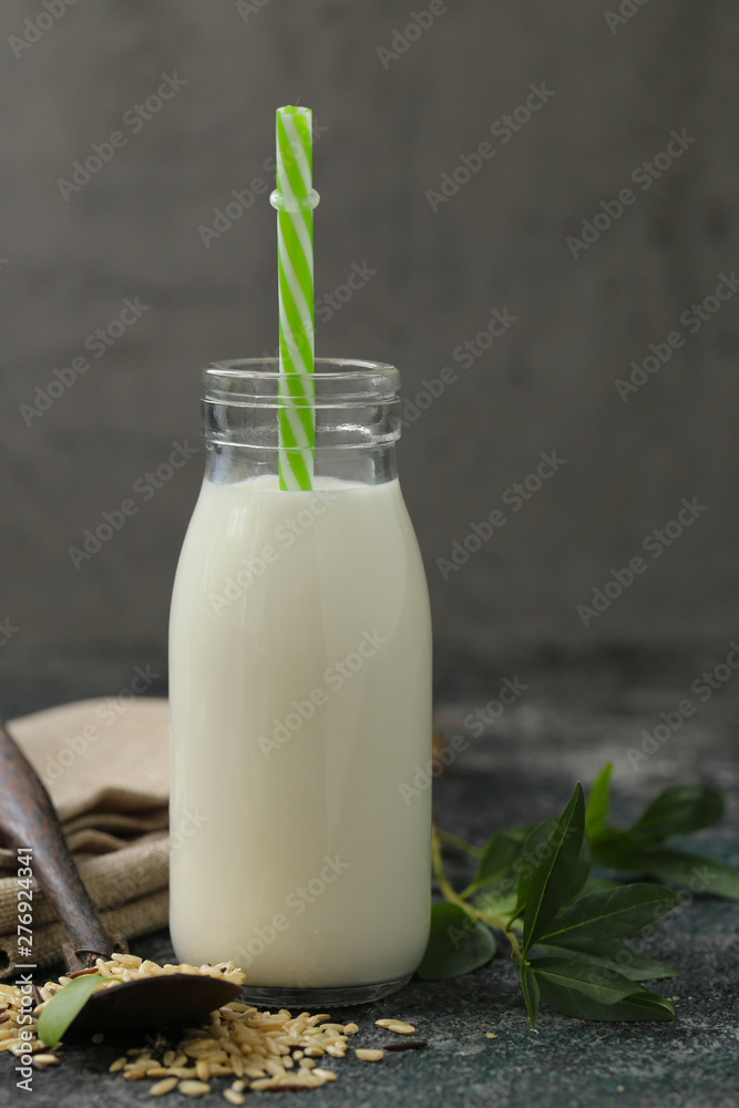 Fototapety, obrazy: organic lactose free rice milk