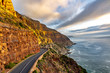 canvas print picture - Chapman's Peak Drive in Cape Town, South Africa.