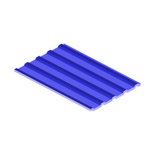 Profile Sheet Iron For Roofs And Fences Icon.Isometric And 3D View.