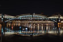 Frunze Bridge In Moscow At Nig...