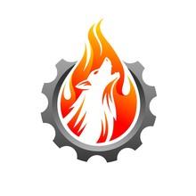 Wolf Logo Accompanied Gear Con...