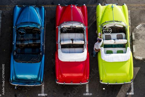 Poster de jardin Havana Vintage cars in Havana