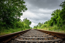 Old Rail Tracks Lead To The Ho...