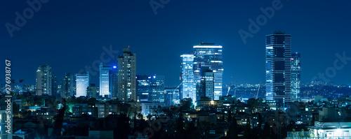 Ramat Gan And Bnei Brak Skyline At Night, Israel - 276938767
