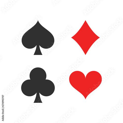 Fényképezés Heart, spade, club and diamond
