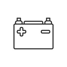 Car Battery Icon Template Blac...