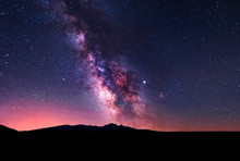 Beautiful Milky Way Galaxy. Space Background. Astronomical Photo.