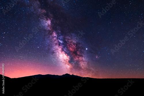 Staande foto Heelal Beautiful milky way galaxy. Space background. Astronomical photo.