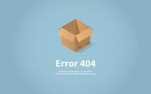 Isometric Concept Web Error Page