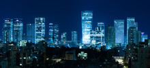 Tel Aviv Panorama At Night,  T...