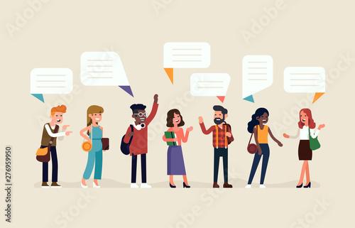 Fotomural  Line-up of talking people